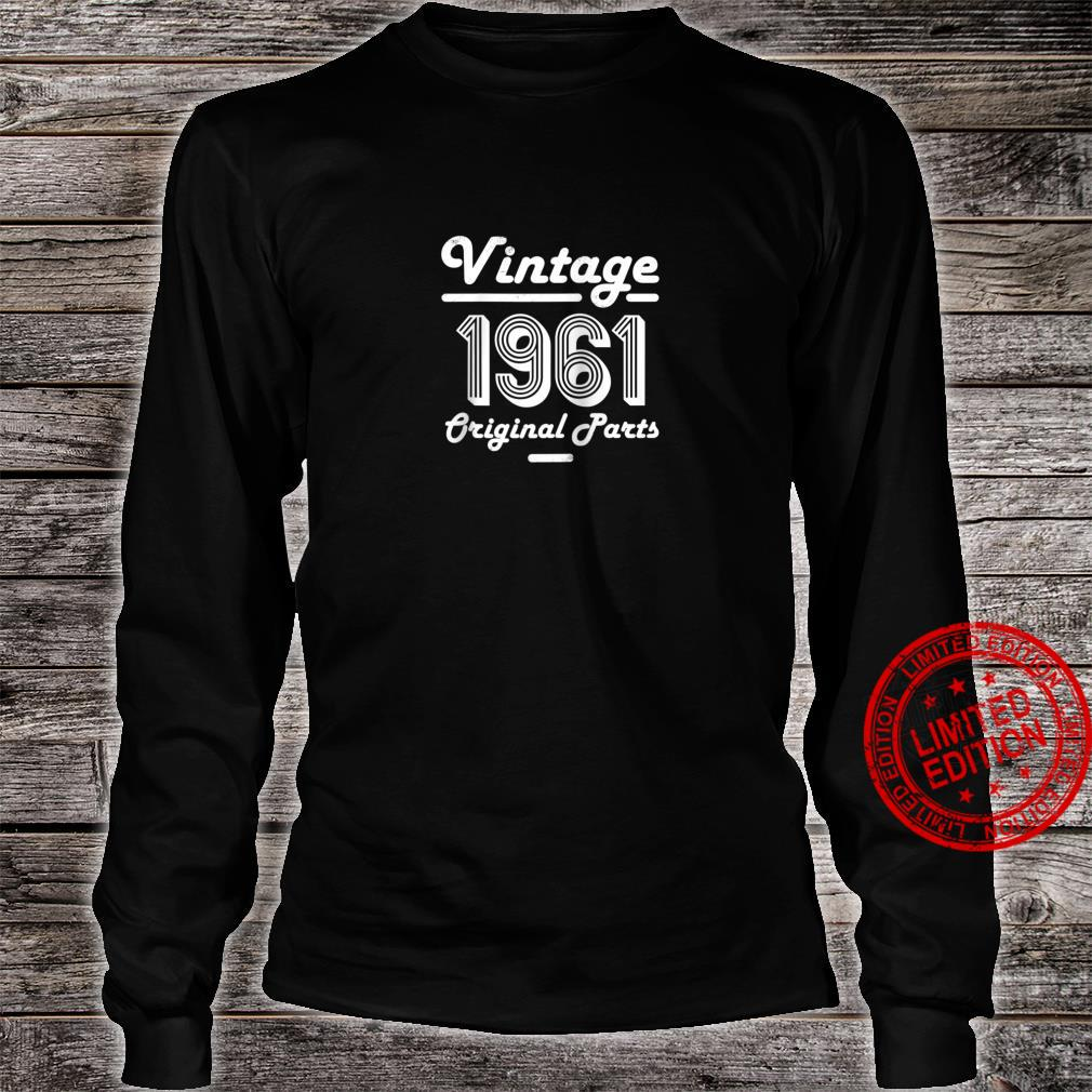 59th Birthday Vintage Age 59 Year Old 1961 Shirt long sleeved