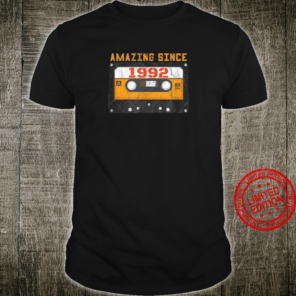 Amazing Since 1992 Birthday Vintage Cassette Tape Shirt