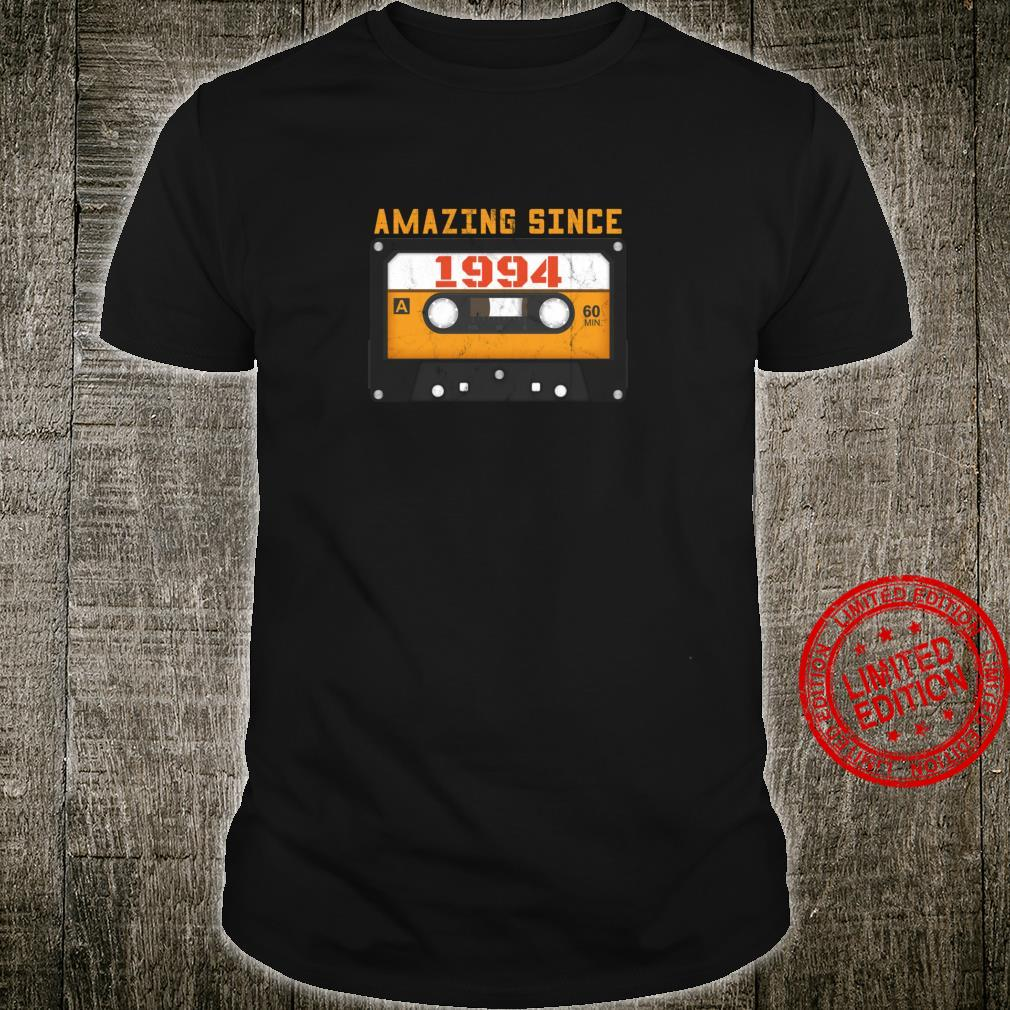 Amazing Since 1994 Birthday Vintage Cassette Tape Shirt