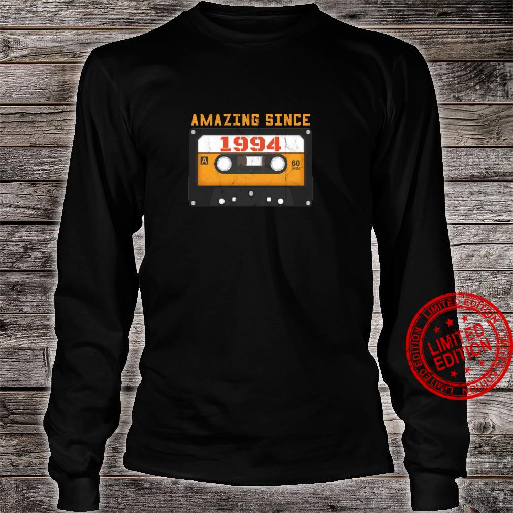 Amazing Since 1994 Birthday Vintage Cassette Tape Shirt long sleeved