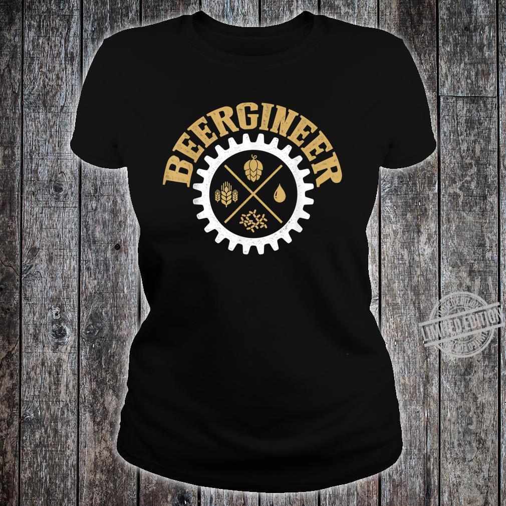 Beergineer Homebrew Home Brewing Craft Beer Brewer Shirt ladies tee