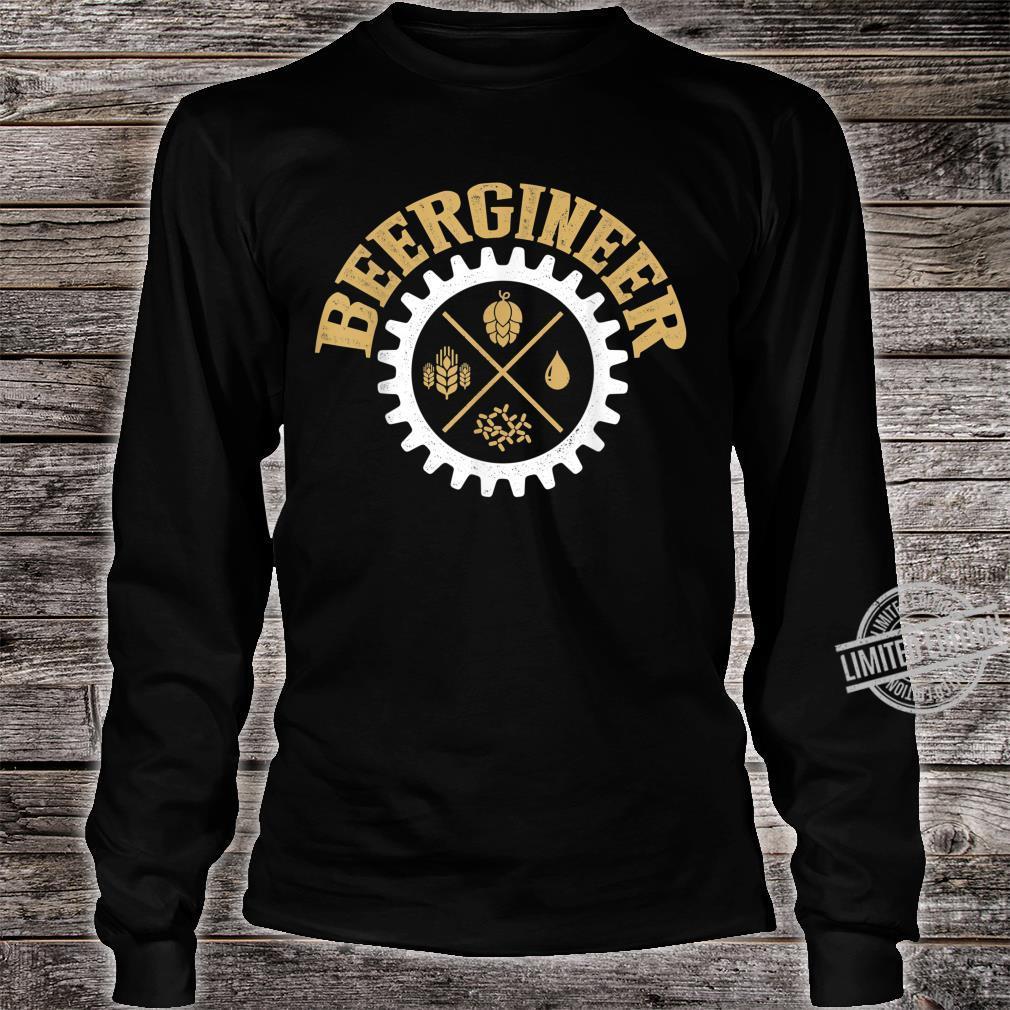 Beergineer Homebrew Home Brewing Craft Beer Brewer Shirt long sleeved