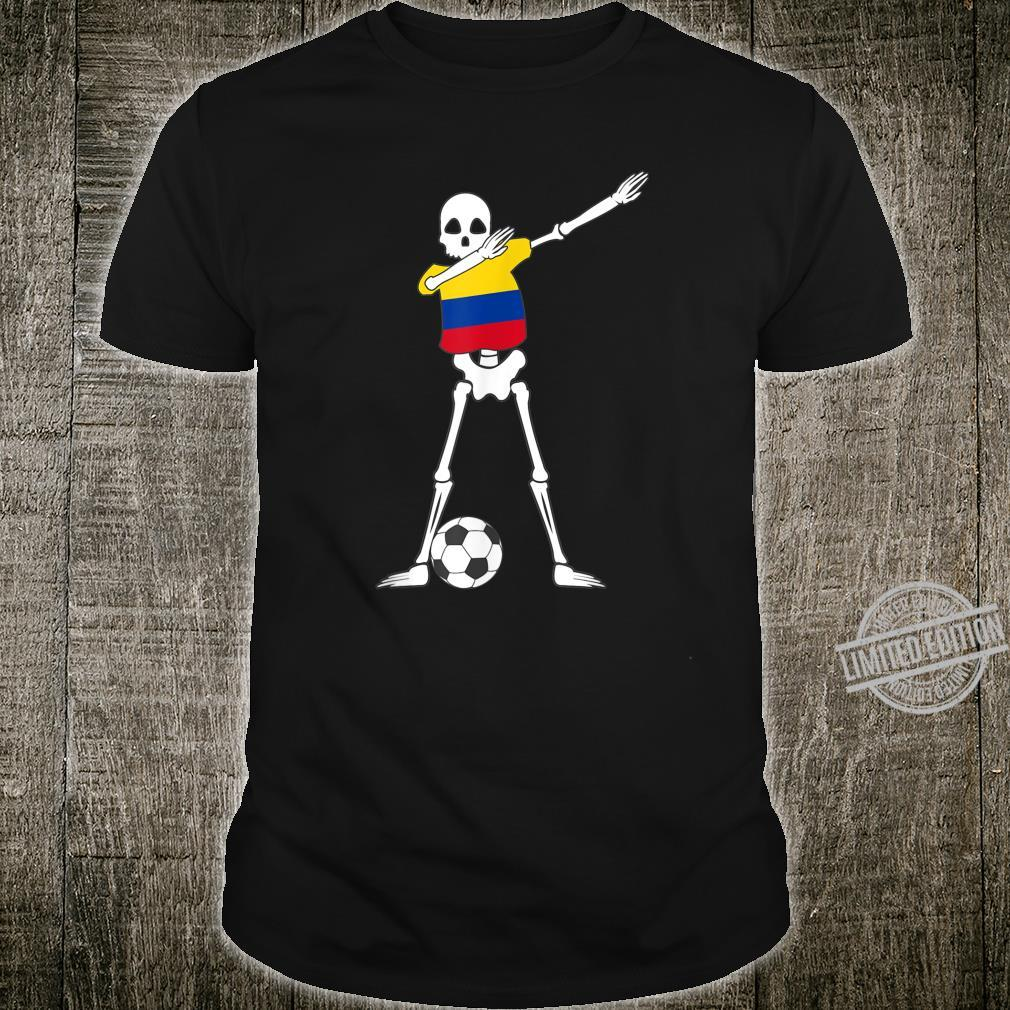 Dabbing Skeleton Colombia Soccer Colombian Dab Dance Shirt