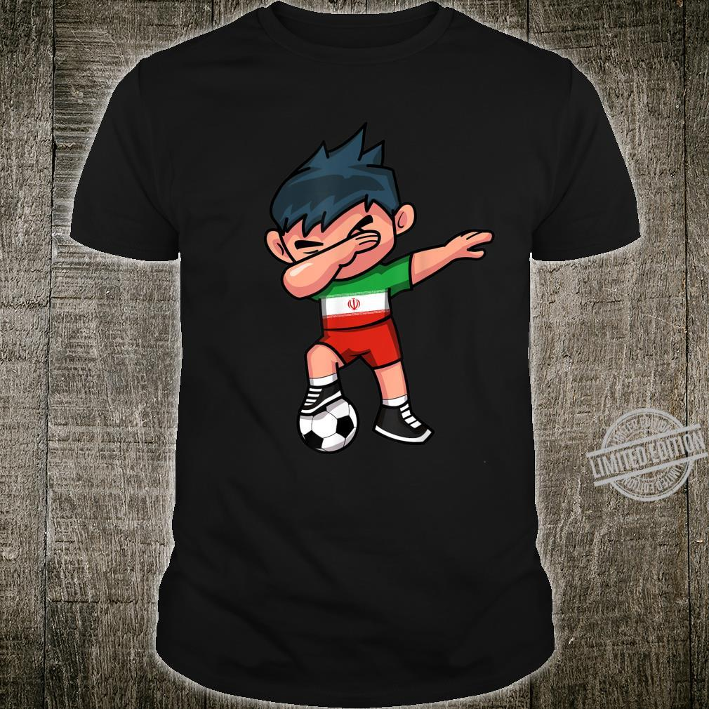 Dabbing Soccer Boy Iran Iranians Football Shirt