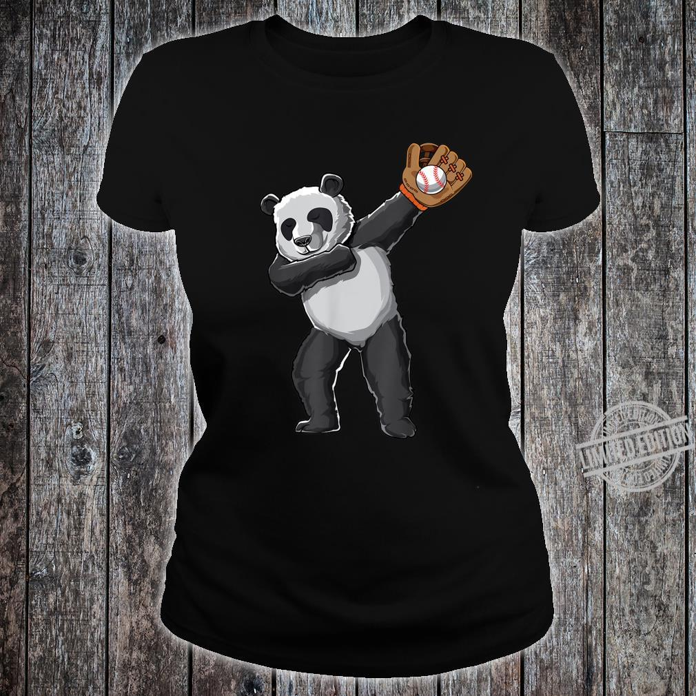 Dabbing panda baseball sport pandas dab Shirt ladies tee