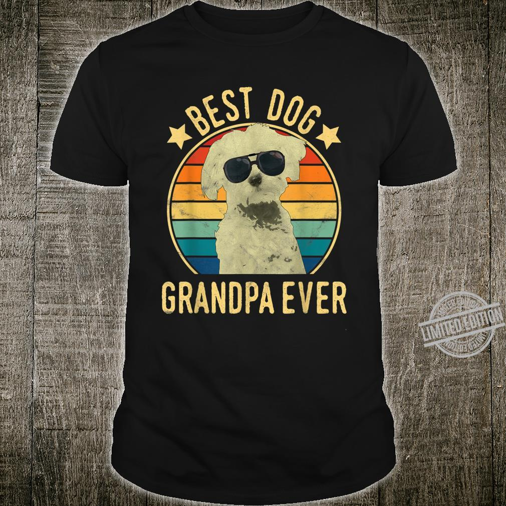 Mens Best Dog Grandpa Ever Maltese Father's Day Shirt