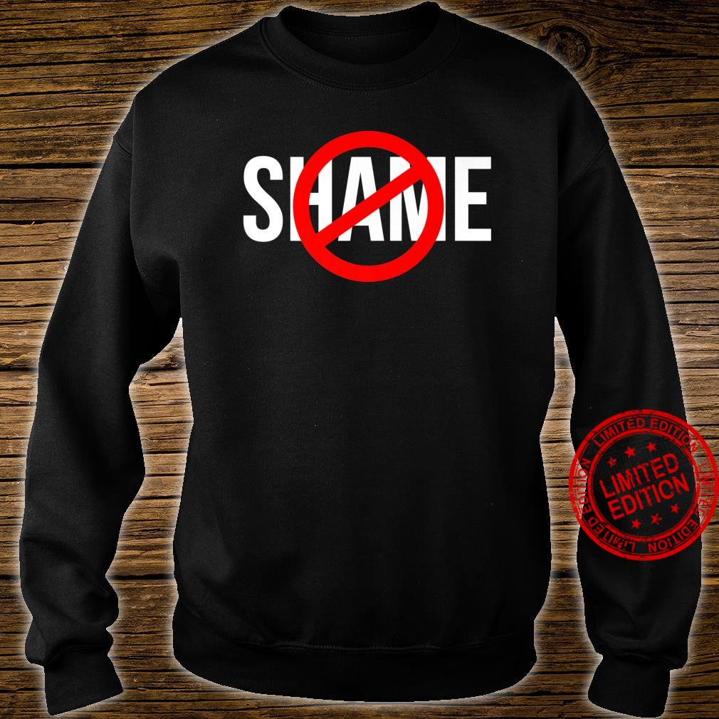 NO SHAME CIRCLE CROSSED OUT Shirt sweater
