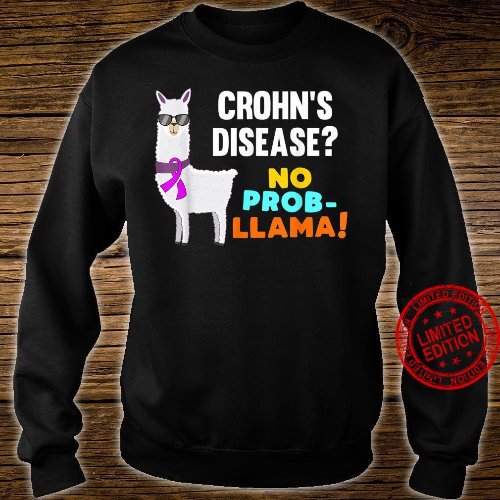No ProbLlama Crohn's Disease Warrior Survivor Awareness Shirt sweater