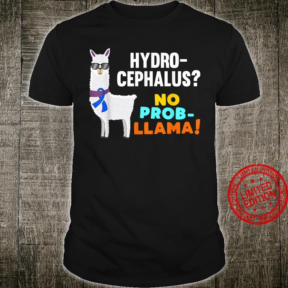 No ProbLlama Hydrocephalus Warrior Survivor Awareness Shirt