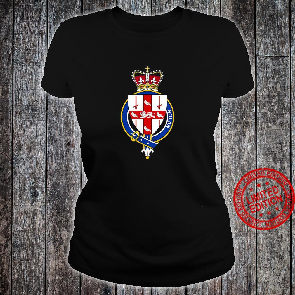 Nolan Coat of Arms Family Crest Shirt ladies tee