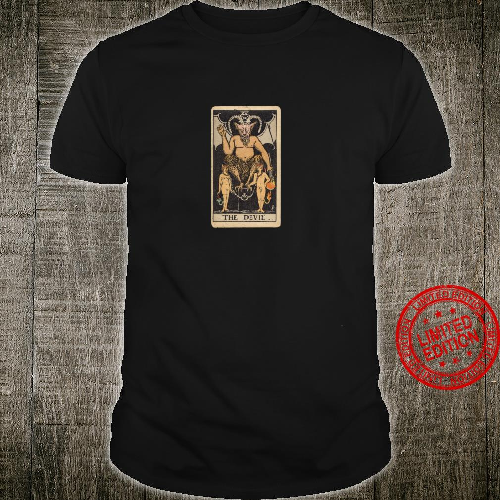 Occult Tarot Card The Devil Gothic Grunge Satan Vintage Shirt