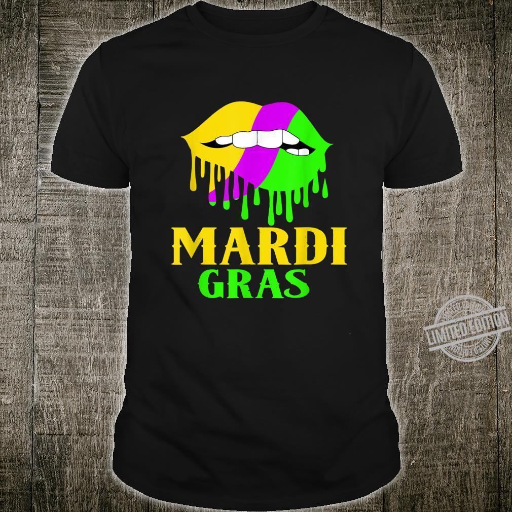 Sexy Mardi Gras Lips Love Party Shirt