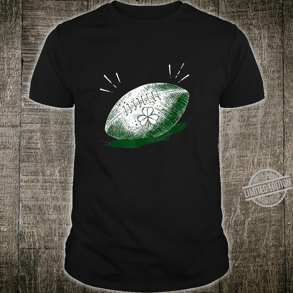 Shamrock On Football Ball St Patrick's Day Player Shirt