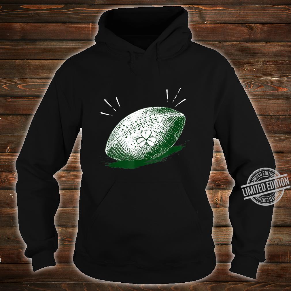 Shamrock On Football Ball St Patrick's Day Player Shirt hoodie