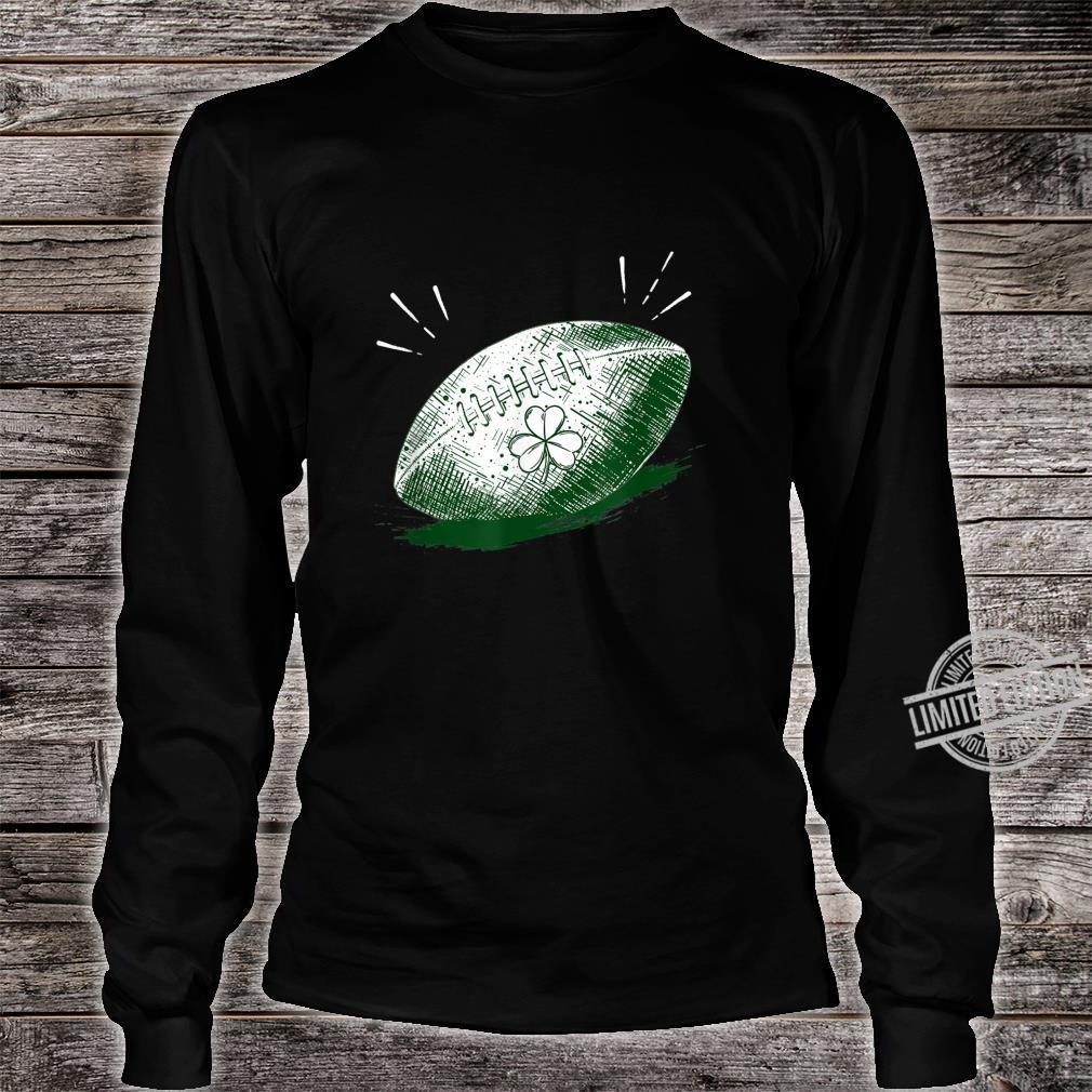 Shamrock On Football Ball St Patrick's Day Player Shirt long sleeved
