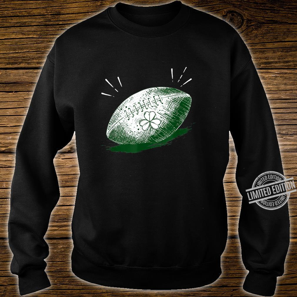 Shamrock On Football Ball St Patrick's Day Player Shirt sweater
