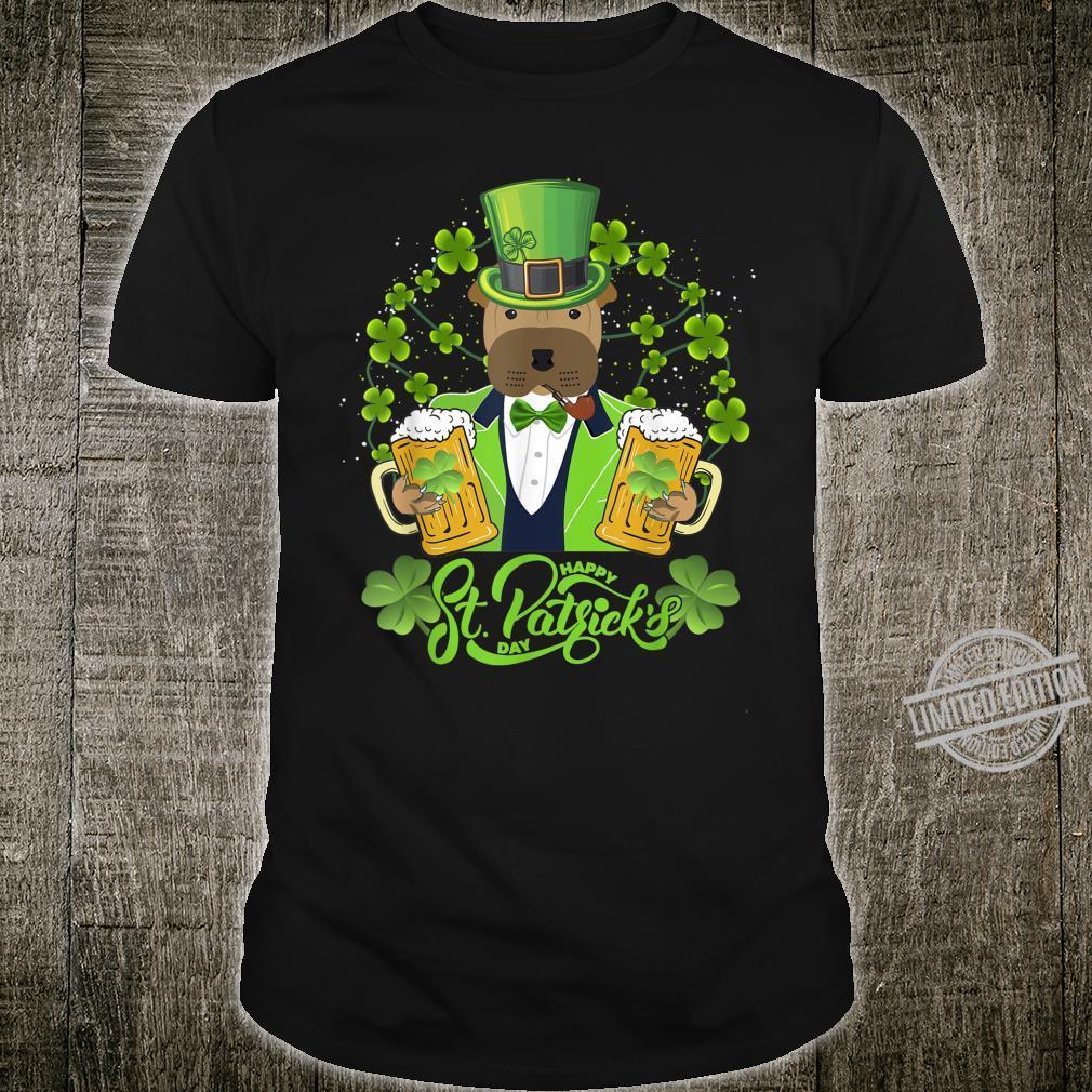 Shar Pei Dog Shamrock St Patrick's Day Shirt