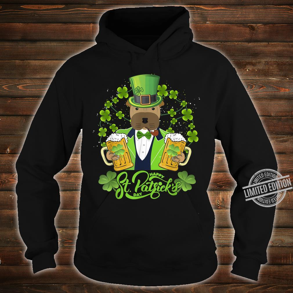 Shar Pei Dog Shamrock St Patrick's Day Shirt hoodie
