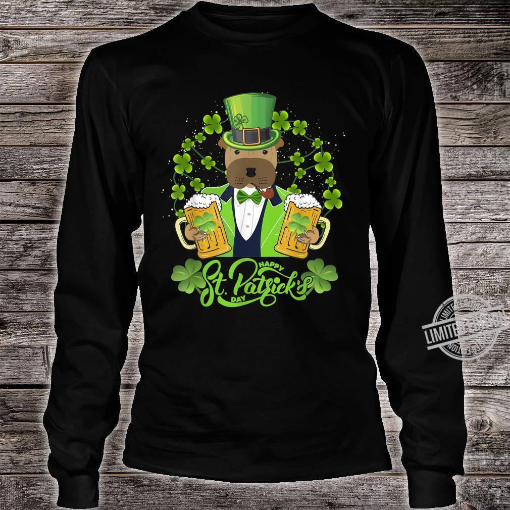 Shar Pei Dog Shamrock St Patrick's Day Shirt long sleeved