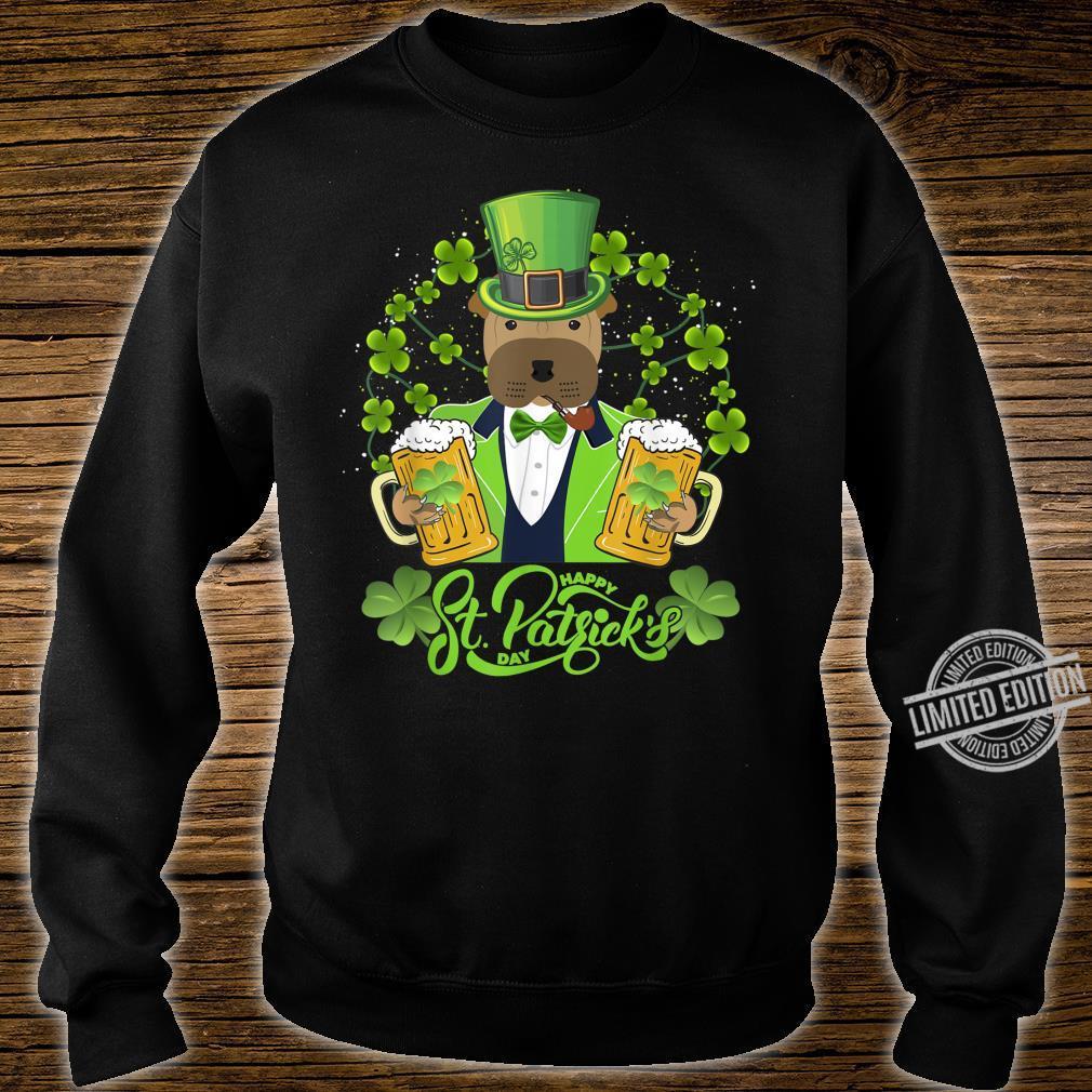 Shar Pei Dog Shamrock St Patrick's Day Shirt sweater