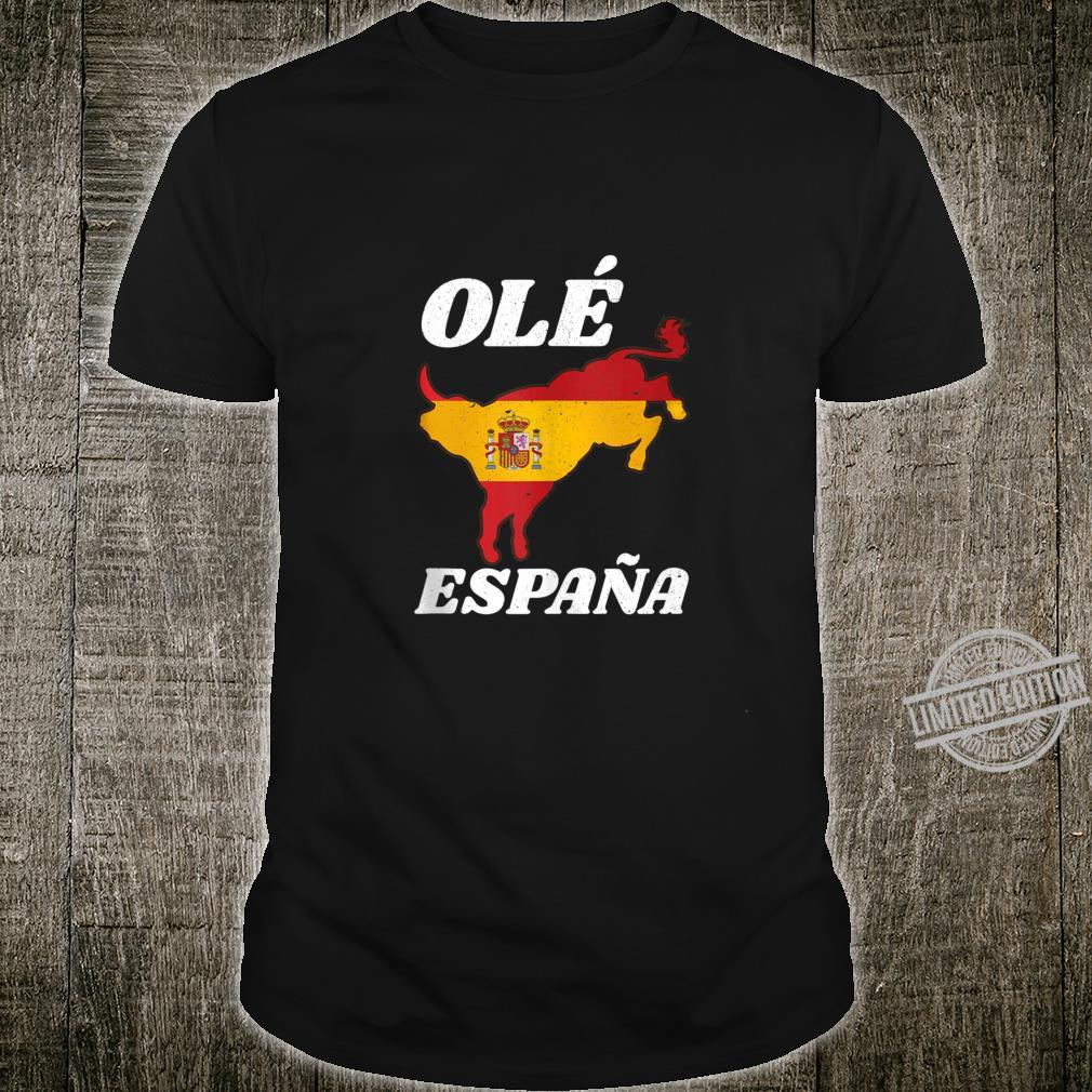 ESPANA FLAG T SHIRT SPANISH SPAIN BULL
